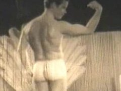 TOP VINTAGE vidz #4 1960's  super Jim Guissi.Clean-cut young gymnast strips and poses.