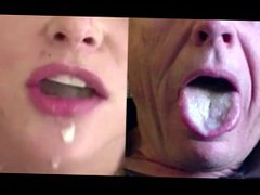 Split Screen vidz Cum Swallow  super 1