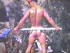 TOP VINTAGE vidz #16 1960's  super SCOTTY CUNNINGHAM. Athletic display in G-string.