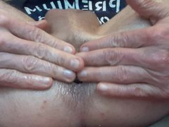 Anal play vidz with a  super zucchini fully in my ass #4