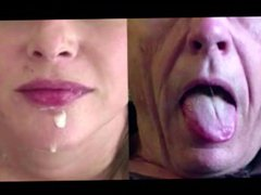 Split Screen vidz Cum Swallow  super Compilation
