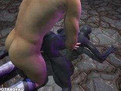 3D cartoon vidz alien sucks  super cock and gets fucked hard in the ass