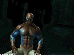 3D cartoon vidz Spiderman getting  super blown and fucked by The Hulk