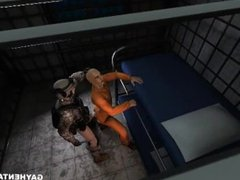 3D cartoon vidz prisoner getting  super his tight asshole fucked by a soldier