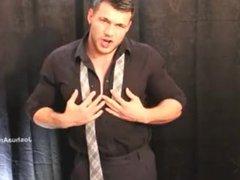 Shirt And vidz Tie Strip  super Down Rub And Cum