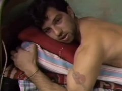 Hot Arab vidz Guy Jacks  super Off & Humps the Bed