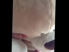 Chubby 18 vidz year old  super wanks his small cock and fucks a teddy bear