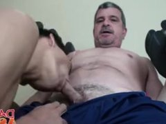 After hard vidz training Daddy  super Mike bangs gym buddys tight ass