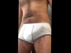 Hairy body vidz white underwear