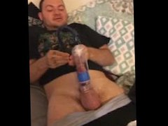 Me trying vidz to use  super a cock pump cuz my dick is too small to satisfy a woman