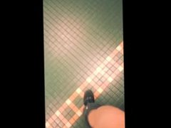 jock jerk vidz off and  super cum at public school urinal after football practice