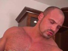 Massaged twink vidz cums while  super getting assfucked