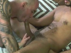 Sexy Tattoo-Stud vidz CHRISTOU taking  super a raw monster dick and a fat load