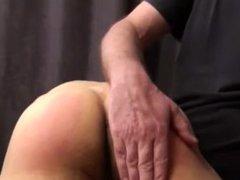 Son cums vidz while dad  super spanks him