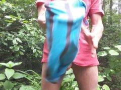 Pissing outside vidz in my  super underwear