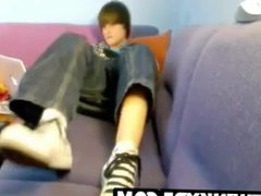 Adorable teen vidz boy shows  super feet and cums on his shoes