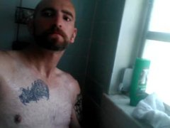 Angry jerking vidz in the  super shower