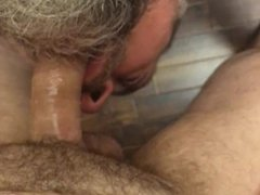 Throat fucked vidz by my  super hot straight buddy over the edge of the bed