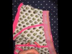 British twink vidz cums on  super cute briefs