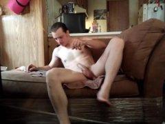 Husband masturbates vidz after work  super (uncut voyeur)