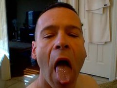 Muscle Military vidz Hunk Jerks  super off and drinks his cum