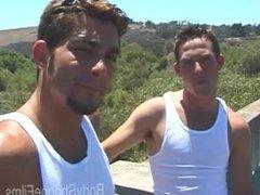 BodyShoppeFilms - vidz Shawn &  super Joey - Military Buddies JackOff Under A Bridge