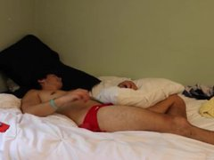 SUPER CUTE vidz GUY SLEEPS  super IN SPEEDO FOR ONE HOUR