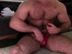 Bodubuilder Muscle vidz Dad in  super Shiny Posers
