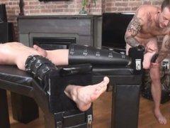 Twink tickled vidz by Tattooed  super Troy