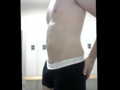Locker room vidz jerk and  super cum