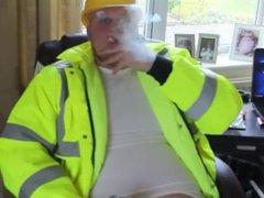 Smoking and vidz drinking young  super chub boss