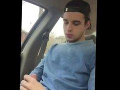 boy jerk vidz off in  super car