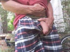 Outside masturbation vidz in boxers