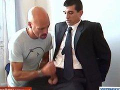 In spite vidz of him:  super gyome's cock (a str8 banker) gets serviced.