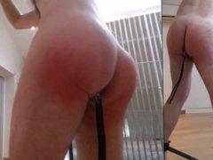 Straight guy vidz full self  super punishment: plug, spank, flog, fucked, ass to mouth
