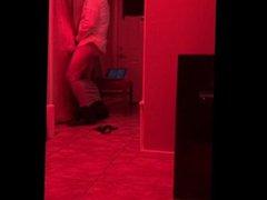 Red Light vidz Special -  super PART 3.MY BOSS FUCKS ME THROUGH THE GLORYHOLE