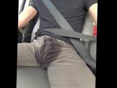 Piss and vidz cum while  super driving