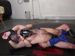 Masked Super vidz Hero wrestling  super 69 headscissors from MDW