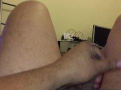 Masturbating my vidz cock
