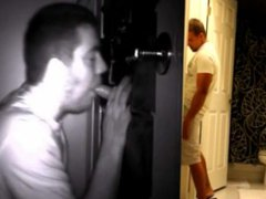 STRAIGHT GUY vidz TRICKED INTO  super GAY GLORY HOLE