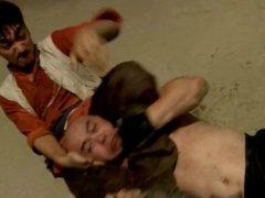 Punch bodybuilder vidz wrestling