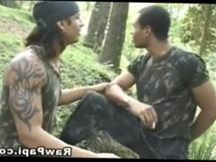 Two Hot vidz Military Gays  super Jorge and Jose Fucking Each Other in the Jungle