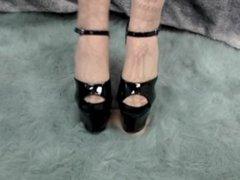 Tiny Dick vidz Crushing in  super Heels and Stockings