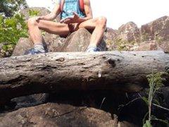 Wank on vidz a rock  super & a tree trunk #2