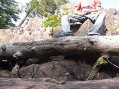 Wank on vidz a rock  super & a tree trunk #3