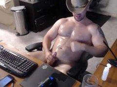 Muscular cowboy vidz messy multiple  super cums