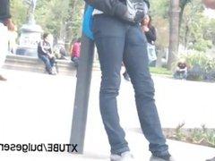 Teen with vidz a huge  super bulge