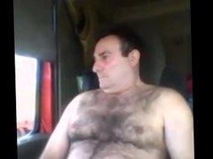 handsome daddy vidz jerking in  super his car