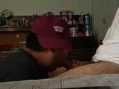 STRAIGHT HUNG vidz MEXICAN COMES  super BACK FOR A SLOPPY BJ (PART 2)