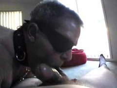 slave sucking vidz it like  super a pro, swallowing, cleaning it up like a real slut